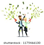 successful businessman and... | Shutterstock .eps vector #1175466130