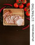 fresh ham with spices and... | Shutterstock . vector #1175467540