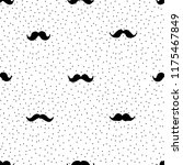 hand drawn mustache seamless... | Shutterstock .eps vector #1175467849