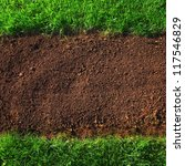 soil and grass background... | Shutterstock . vector #117546829