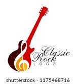 musical logo. silhouette of an...   Shutterstock .eps vector #1175468716
