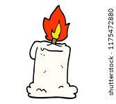 cartoon doodle lit candle | Shutterstock .eps vector #1175472880