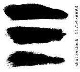 grunge hand drawn paint brush.... | Shutterstock .eps vector #1175476693