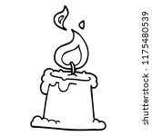 line drawing cartoon lit candle | Shutterstock .eps vector #1175480539