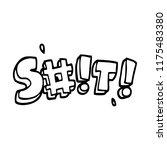 line drawing cartoon swear word   Shutterstock .eps vector #1175483380