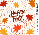 autumn banner with hand drawn... | Shutterstock .eps vector #1175484403