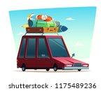 cartoon modern retro... | Shutterstock .eps vector #1175489236