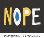 nope   vintage style... | Shutterstock .eps vector #1175498119