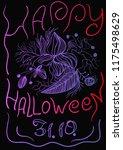 happy halloween greeting card... | Shutterstock .eps vector #1175498629