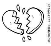 line drawing cartoon broken... | Shutterstock .eps vector #1175499139