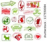 christmas stamp collection   ...