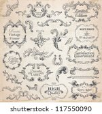 vector set  calligraphic design ... | Shutterstock .eps vector #117550090