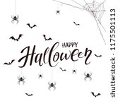 lettering happy halloween with... | Shutterstock .eps vector #1175501113