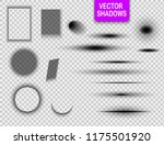 vector shadows isolated. set of ... | Shutterstock .eps vector #1175501920