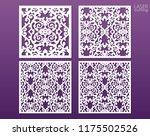 laser cut square ornamental... | Shutterstock .eps vector #1175502526
