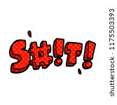 cartoon doodle swear word   Shutterstock .eps vector #1175503393
