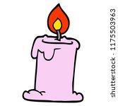 cartoon doodle lit candle | Shutterstock .eps vector #1175503963