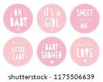 sweet baby shower vector... | Shutterstock .eps vector #1175506639