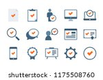 approve and checkmark related... | Shutterstock .eps vector #1175508760