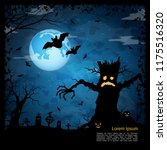 halloween scary night square... | Shutterstock .eps vector #1175516320