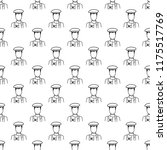 artist icon in pattern style....
