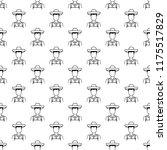 farmer icon in pattern style....