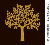 golden tree on black background.... | Shutterstock .eps vector #1175521810