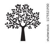 black tree. vector illustration.... | Shutterstock .eps vector #1175521930