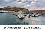 evening view of port in tropea... | Shutterstock . vector #1175522563