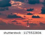 clouds on the red sky during... | Shutterstock . vector #1175522836