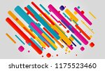 creative happy new year 2018... | Shutterstock .eps vector #1175523460
