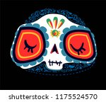 day of the dead cartoon.... | Shutterstock .eps vector #1175524570
