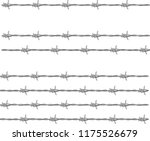 barbed wire mesh vector drawing....   Shutterstock .eps vector #1175526679