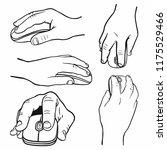 hand drawn men's hands... | Shutterstock .eps vector #1175529466