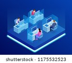 isometric business team... | Shutterstock . vector #1175532523