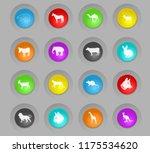 mammals colored plastic round... | Shutterstock .eps vector #1175534620