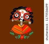 postcard on the day of the dead ... | Shutterstock .eps vector #1175536699