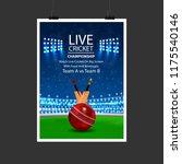 cricket sports stadium with bat ... | Shutterstock .eps vector #1175540146