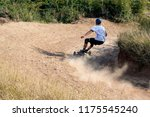 mountainboard rider during... | Shutterstock . vector #1175545240