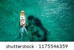 aerial bird's eye view of small ... | Shutterstock . vector #1175546359