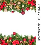 christmas frame with free space ... | Shutterstock . vector #117554680