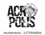 acropolis. athens  greece logo... | Shutterstock .eps vector #1175546836