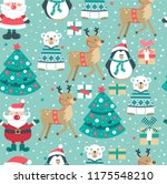christmas seamless pattern with ... | Shutterstock .eps vector #1175548210