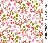 abstract floral background.  | Shutterstock .eps vector #1175550739