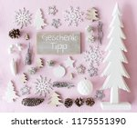 christmas decoration  flat lay  ... | Shutterstock . vector #1175551390