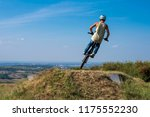 man in helmet on bmx bike... | Shutterstock . vector #1175552230