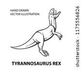 dinosaur. angry tyrannosaurus... | Shutterstock .eps vector #1175556826