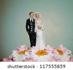 figurines of the bride and... | Shutterstock . vector #117555859