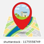 map of an imaginary city with... | Shutterstock .eps vector #1175558749