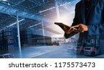 businessman manager using... | Shutterstock . vector #1175573473